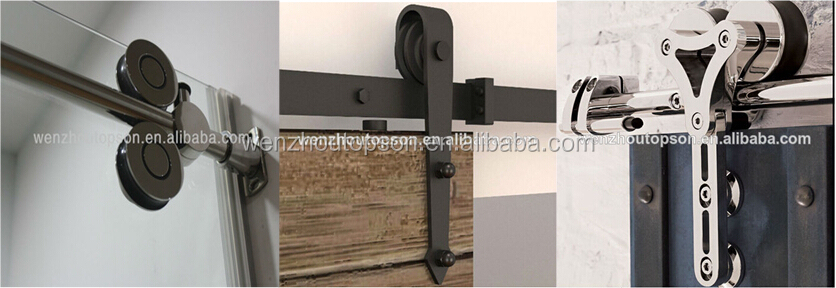 6 FT Modern European Style Dark Coffee Barn Wood Sliding Door Hardware Track New