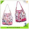 Traditional China factory special print design bucket bag for lady