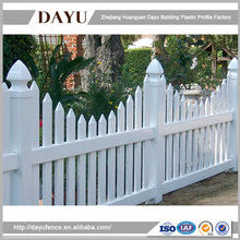 Scallop Square Vinyl Picketl fence panels with Aluminum made in China