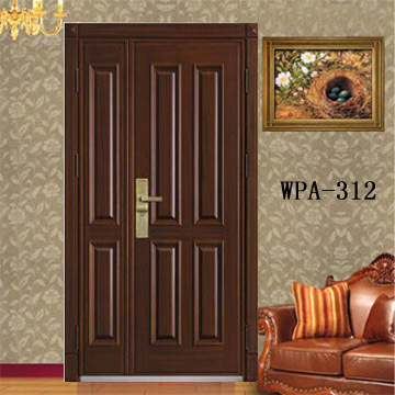 Italian security steel wood armored main door design