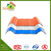 New arrival Impact resistance 4 layer carbon fiber upvc roof tile