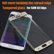 Wholesalers china treated glass screen protector 3d curved full cover for samsung s6 edge