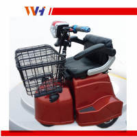 Two seat foldable 3 wheel electric vehicle with speaker