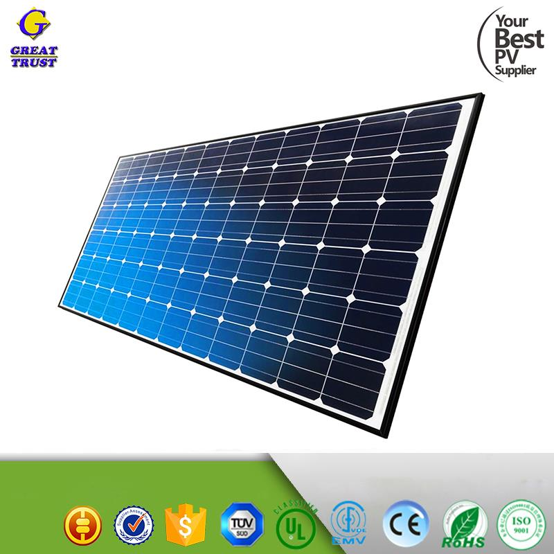 Mono and poly 50w 100w 250 watt 300w 12v 18v 30v 36v solar panels for home system