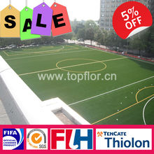 Topturf thiolon monofilament artificial soccer grass for professional use