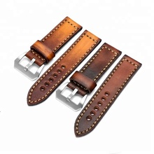 Factory handmade italian leather watch band 20mm