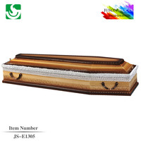 Russia style zinc handles professional lace lining for nice coffin