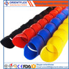 Heat resistant spiral protective sleeve for hydraulic hoses