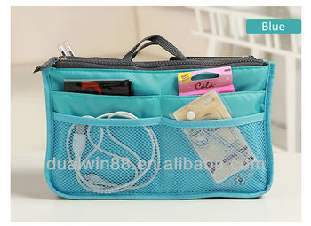 Cheapest hot sales bag in bag handbag organizer bag