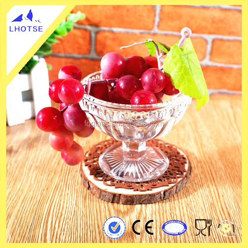 125ml Gorgeous Novelty Bar Use Cheap Glass Goblet for Fruit/ Salad/ Ice Cream