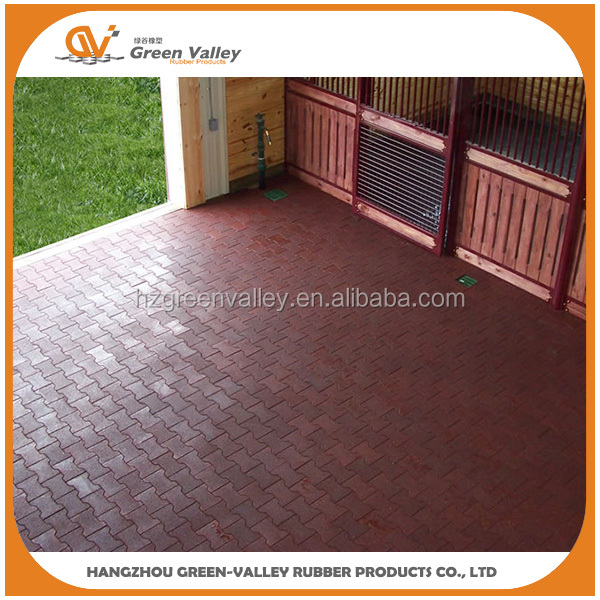 High density shock resistant bone shape rubber tiles