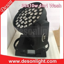 Technical New 4-in-1 rgbw zoom 36x10w led moving head wash light