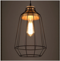 High Quality New Design Antique Fancy Iron Pendant Edision Light for Home with Low Price