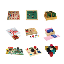 Best selling kindergarten popular kids montessori material wooden toys montessori