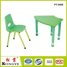 Wholesale kids plastic table and chair for preschool