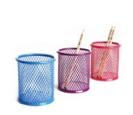 special metal mesh office desktop colorful pen and pencil holder