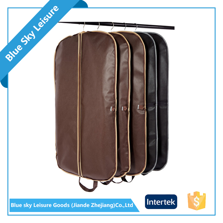 PP Non-woven Fabric Waterproof Dust Foldable Garment Suit Cover Bag For Man