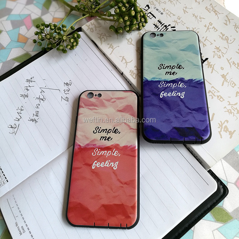 Customized design Plastic TPU printed Cell Phone Case For iPhone 7 case