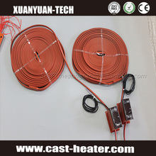 Flexible silicone rubber strip heater heating element