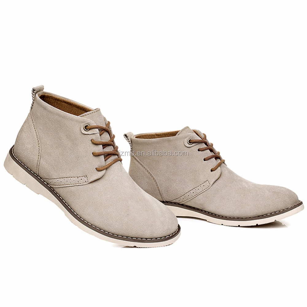 Rismart Mens Stylish Oxfords Sole Suede Leather Ankle Sand Boots