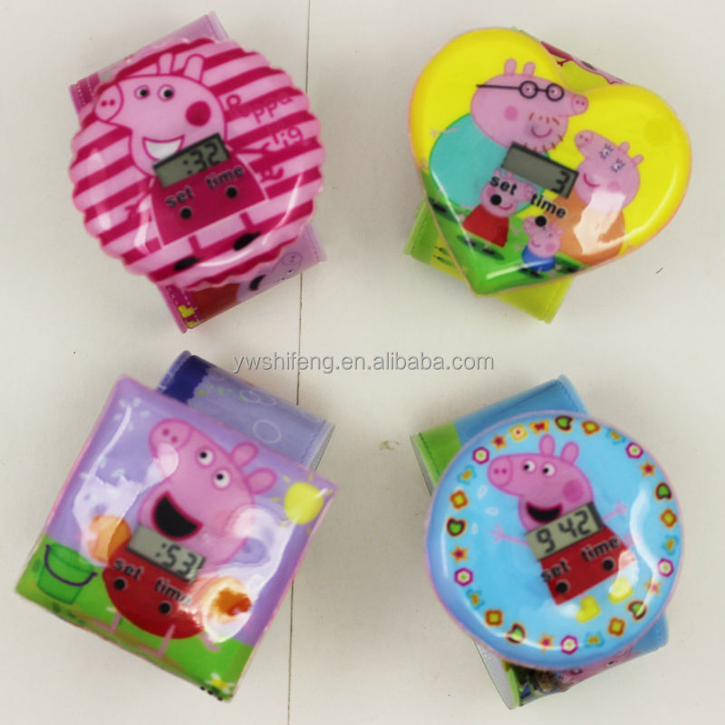Chinese leather band watches pink cat pink pig slap watch