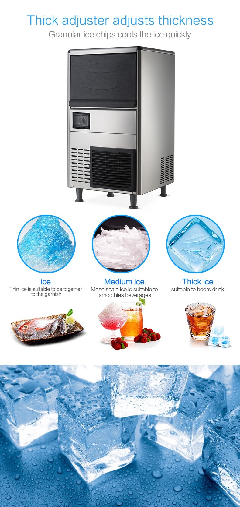 China factory portable dry ice cube making machine price