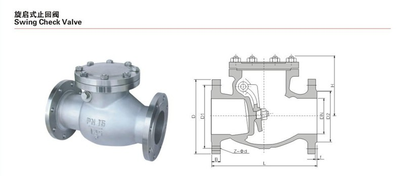 wcb Swing flap weighted air Check Valve pn16