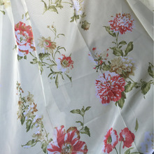 100% polyester cheap curtain fabric voile printed fabric curtain