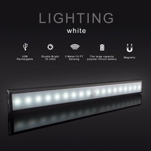 Wholesale Ce Rohs Motion Sensing Cabinet USB Rechargeable Magnetic Stick-on LED Light Bar