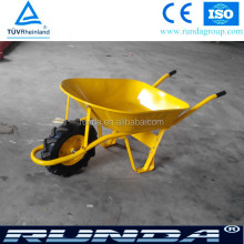 Heavy Duty Construction metal painted tray garden wheelbarrow