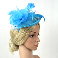 Handmade Fashion Feather Sinamay Fascinator Hair Headband for Women