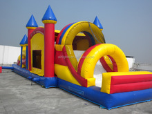 promotional cheap inflatable obstacle course, interaceive inflatable games
