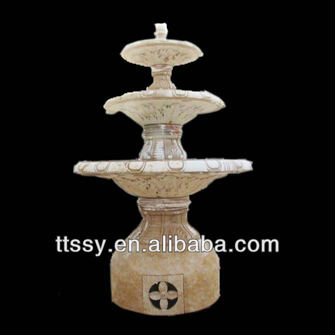 Marble antique 3 tiers fountain
