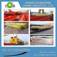 A-frame support legs boat lifting gantry crane