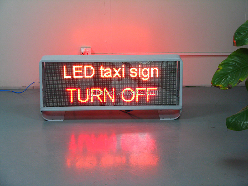DC9-36V taxi/car top led display 3G/WIFI control double sided p5 SMD full color led taxi roof top advertising signs