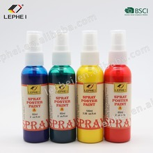 60ml Amazon hot selling Innovative DIY kids paint water based safe non-toxic spray poster paint for amateurs and kids