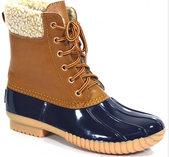 pvc shell bean boots duck boots USA popular snow boots ankle boots