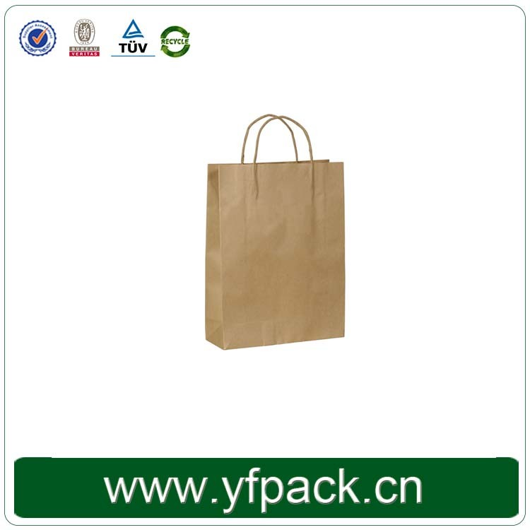 Plain Brown Kraft Shopping Paper Bag With Your Logo Custom for Clothing/Apparel/T-shirts/Shopping Bags