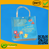 2015 Clear shopping pvc bags with zipper and pvc tote bag handles