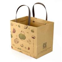 Wholesale Promotion Customized Printed Strong Handle Kraft Paper Bag