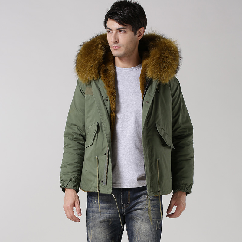 Armiqueen Brand Mr Italy Style Jacket Design Short Faux Fur Parka ...