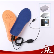 USB rechargeable heated insoles warm electric USB heating insoles with wireless remote controller