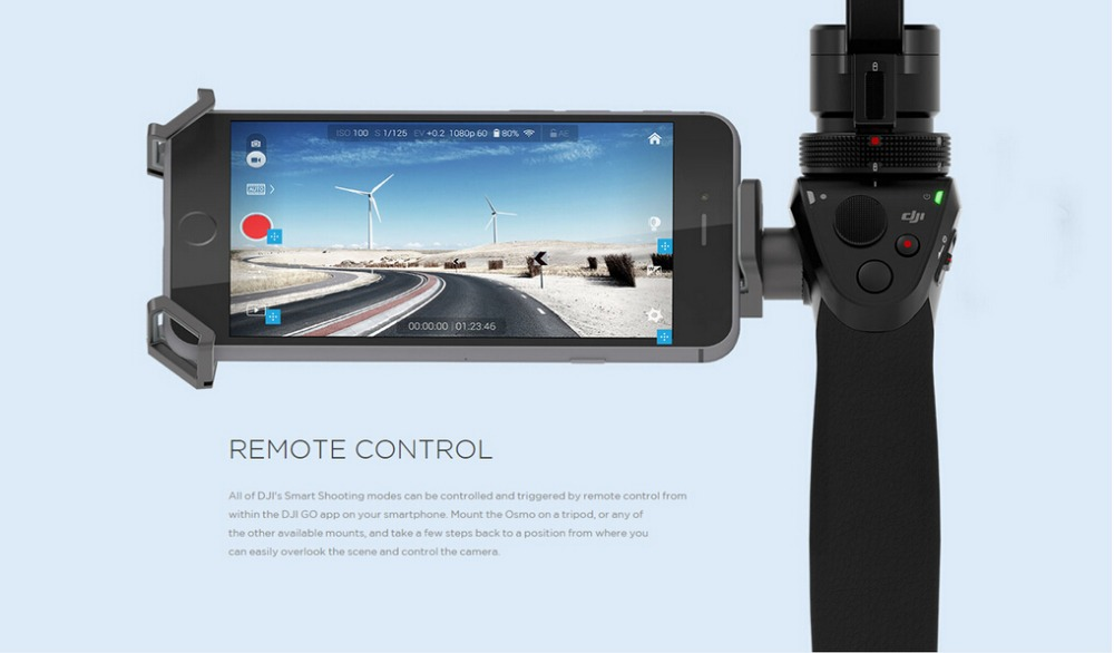 New released DJI handheld gimbal Osmo 3-axis brushless handheld steadycam gimbal with Zenmuse X3 4K camera