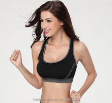 New Style Sexy Women Active Wear Strappy Sports Bra Wholesale Elastic Running Yoga Bra