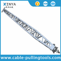 24m Aluminum Alloy Inner-suspended Lattice Gin Pole With 500*500mm