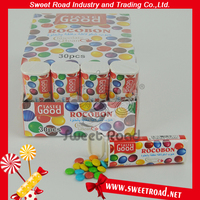 Colorful Chocolate Praline Chocolate Beans In Sweets Tube