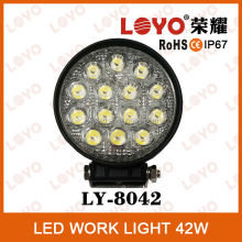 China Factory Good quality led work light for car, motorcycles, atv, utv,trucks,tractors 42w led headlight work light