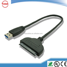 10cm sata 22pin male to usb 3.0 male cable assembly