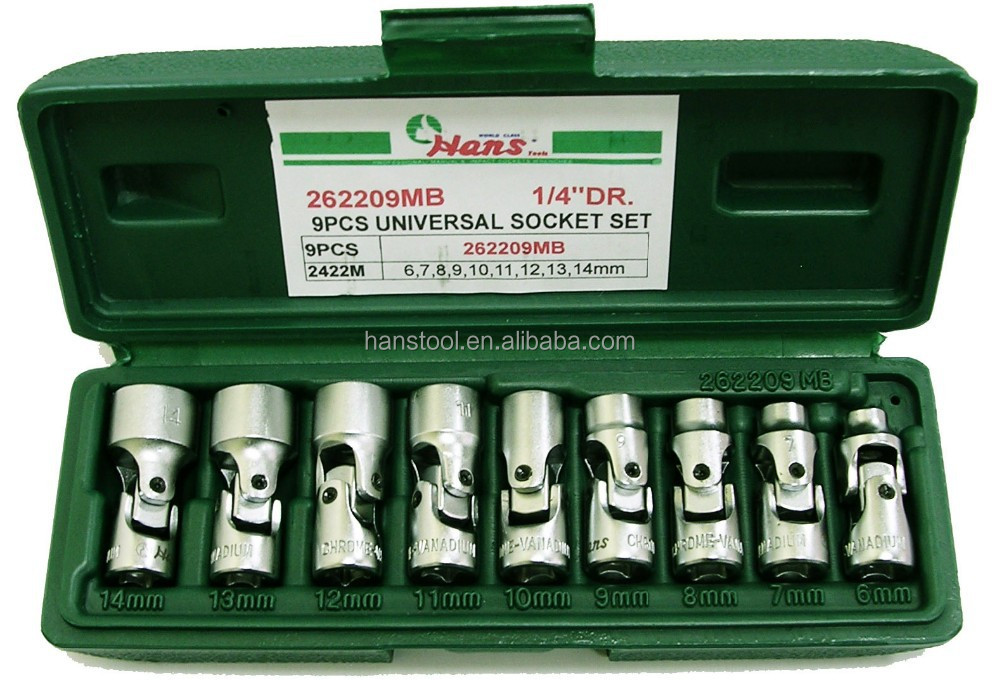 HANS tool/ Taiwan Significant brand/ Universal Joint- 12pt/ 9 pcs universal joint Socket set