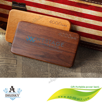 Fashion Wooden Power Bank 4000mAh USB External Battery Portable Power bank Mobile Backup Charger Power banks